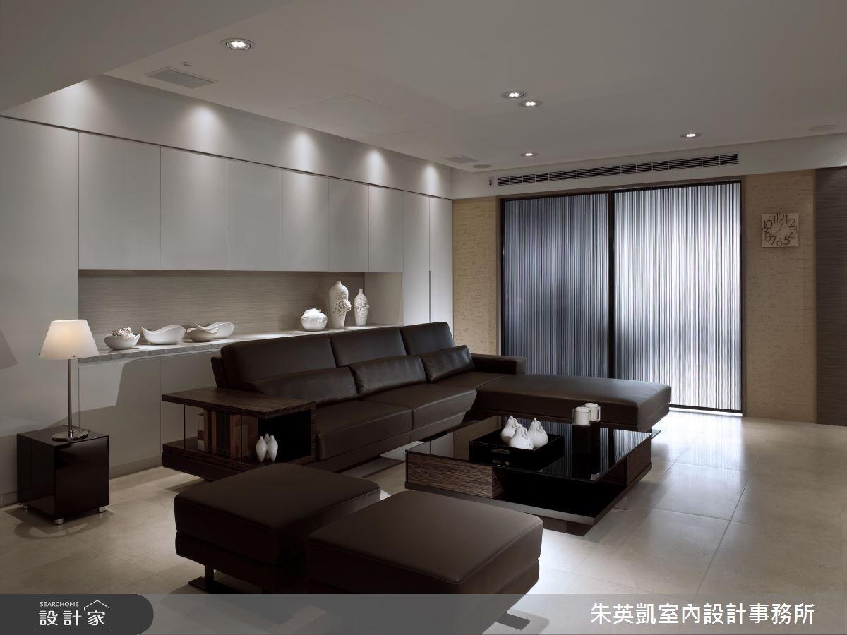 50坪_現代風客廳案例圖片_朱英凱室內設計事務所_朱英凱_10之4