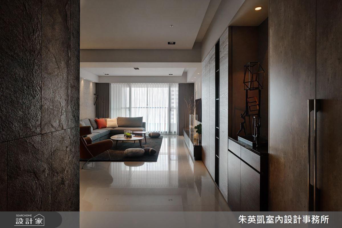 40坪_現代風玄關客廳案例圖片_朱英凱室內設計事務所_朱英凱_11之2