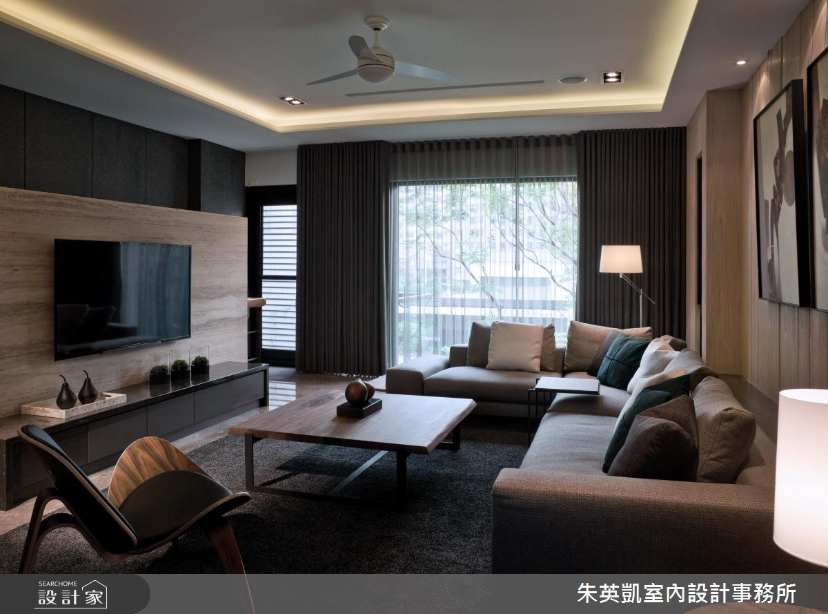 300坪新成屋(5年以下)_現代風客廳案例圖片_朱英凱室內設計事務所_朱英凱_13之4