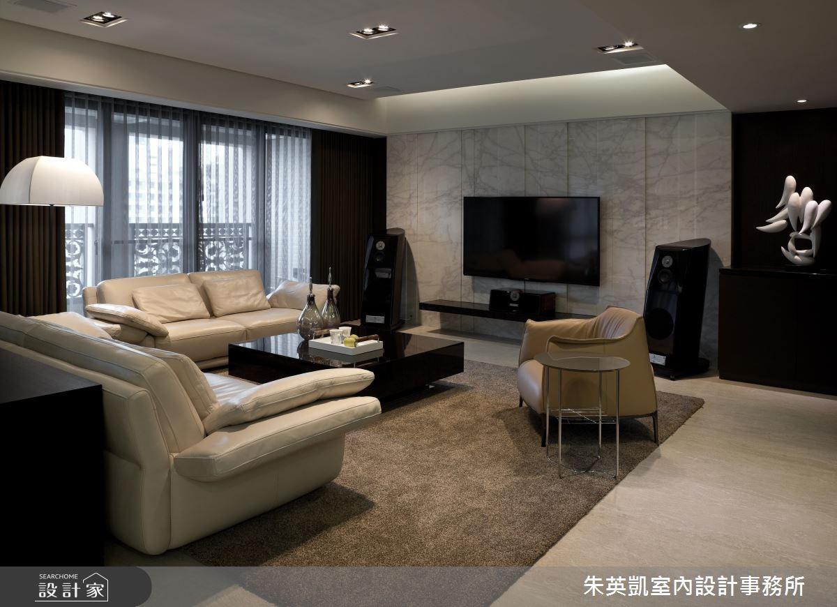 70坪_現代風客廳案例圖片_朱英凱室內設計事務所_朱英凱_16之2