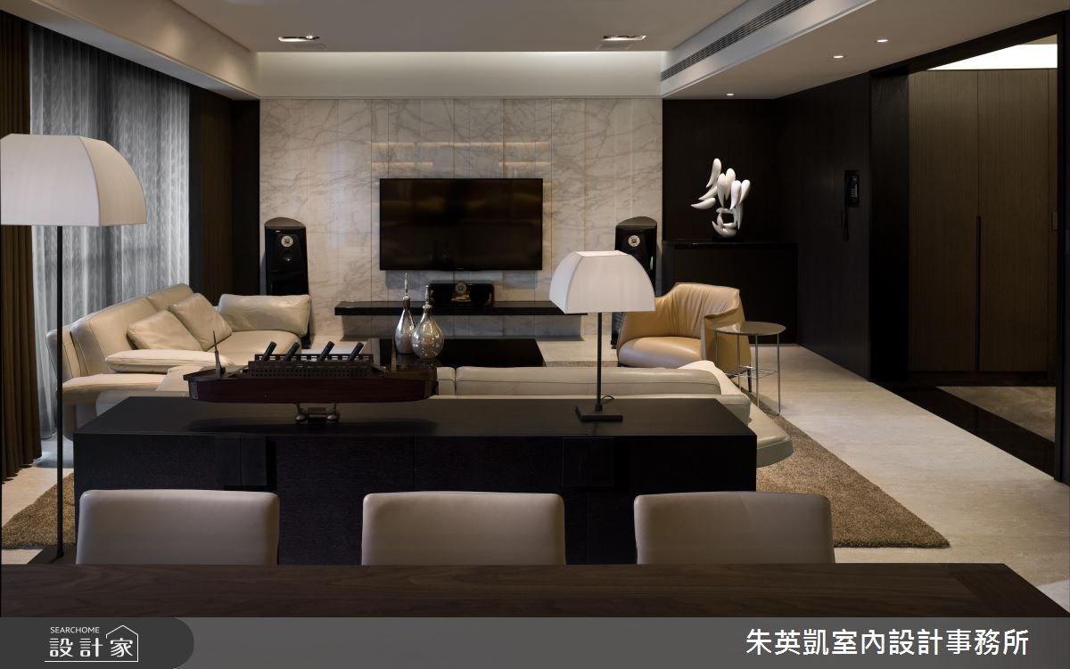 70坪_現代風客廳案例圖片_朱英凱室內設計事務所_朱英凱_16之3