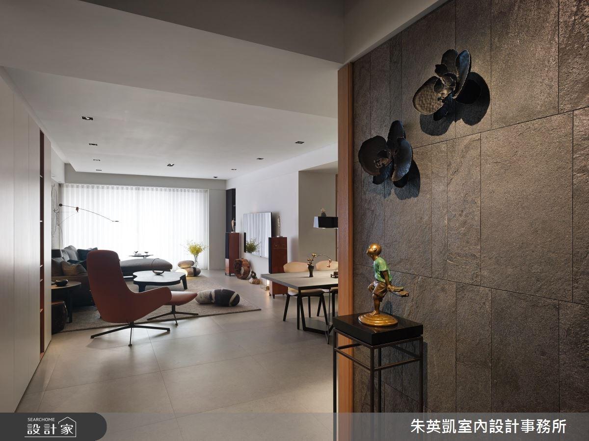 45坪_現代風客廳案例圖片_朱英凱室內設計事務所_朱英凱_18之3