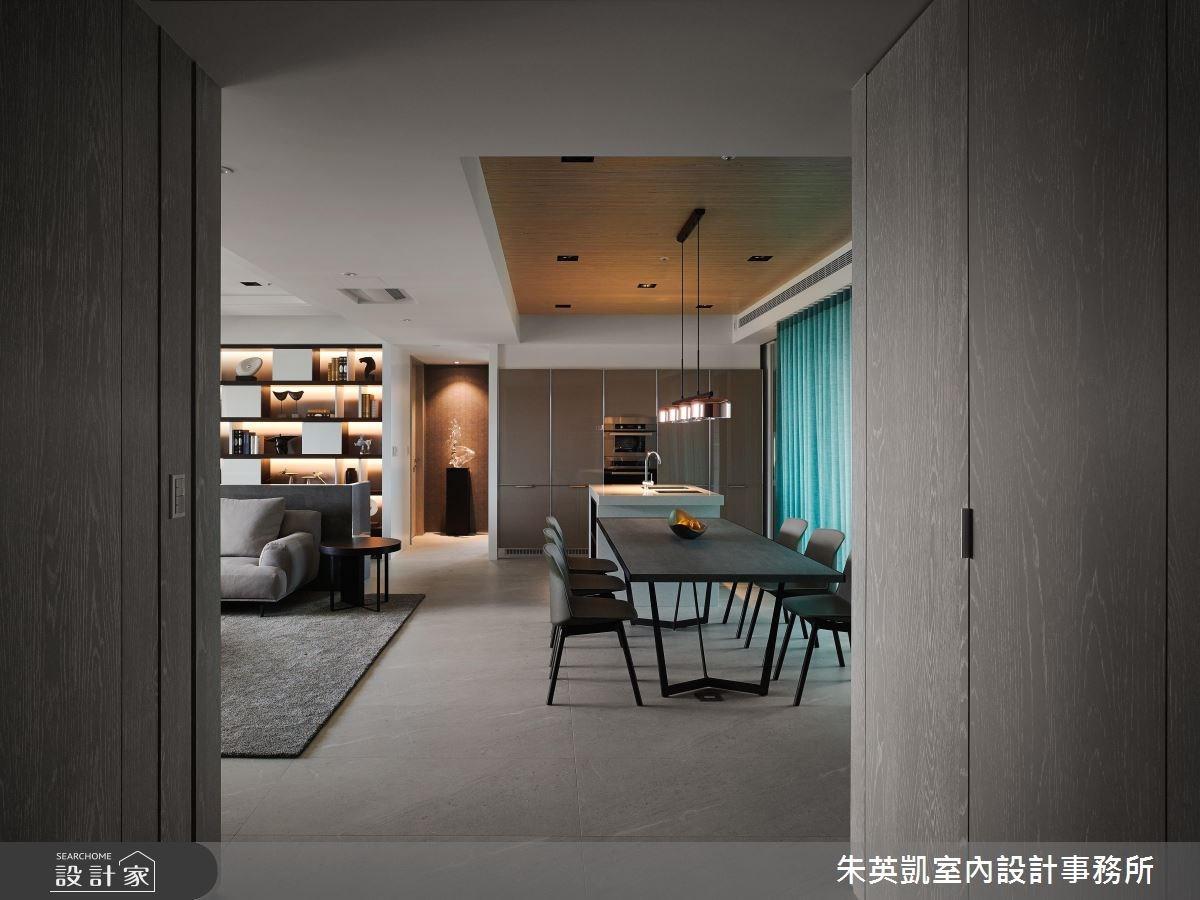 45坪_現代風玄關餐廳案例圖片_朱英凱室內設計事務所_朱英凱_21之1