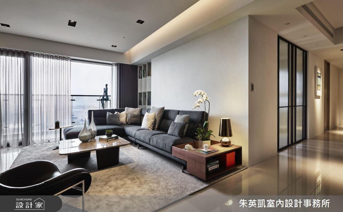 60坪新成屋(5年以下)_現代風客廳案例圖片_朱英凱室內設計事務所_朱英凱_24之4