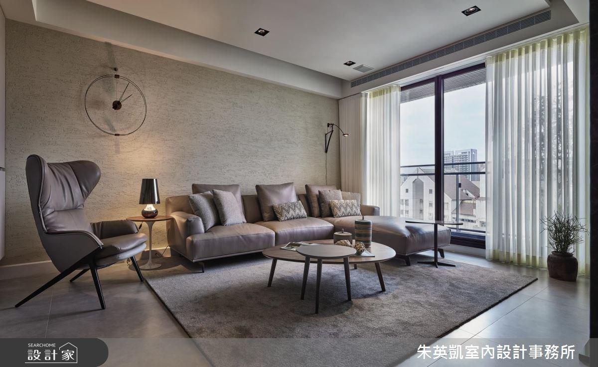 32坪新成屋(5年以下)_現代風客廳案例圖片_朱英凱室內設計事務所_朱英凱_25之3