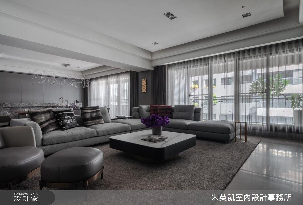 100坪新成屋(5年以下)_現代風客廳案例圖片_朱英凱室內設計事務所_朱英凱_26之3