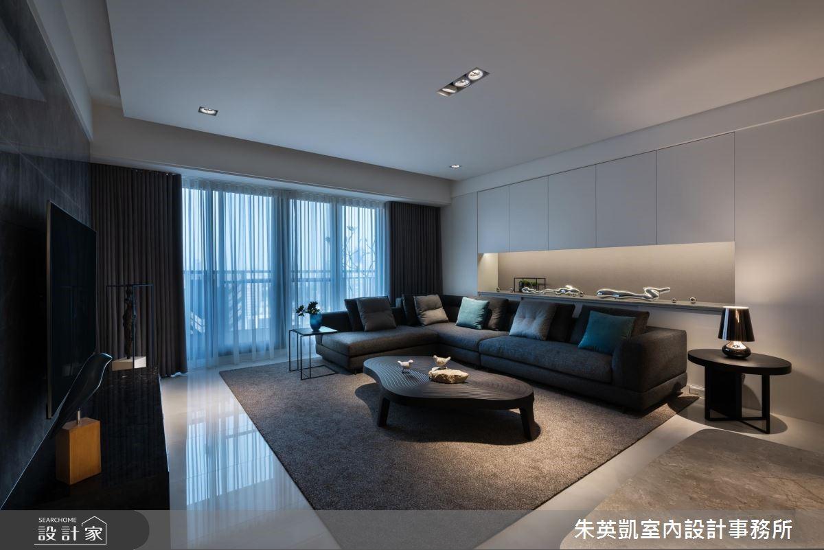 40坪新成屋(5年以下)_現代風客廳案例圖片_朱英凱室內設計事務所_朱英凱_27之3