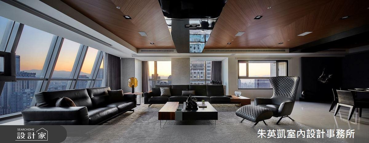130坪新成屋(5年以下)_現代風客廳案例圖片_朱英凱室內設計事務所_朱英凱_30之3