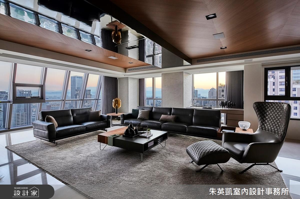 130坪新成屋(5年以下)_現代風客廳案例圖片_朱英凱室內設計事務所_朱英凱_30之2