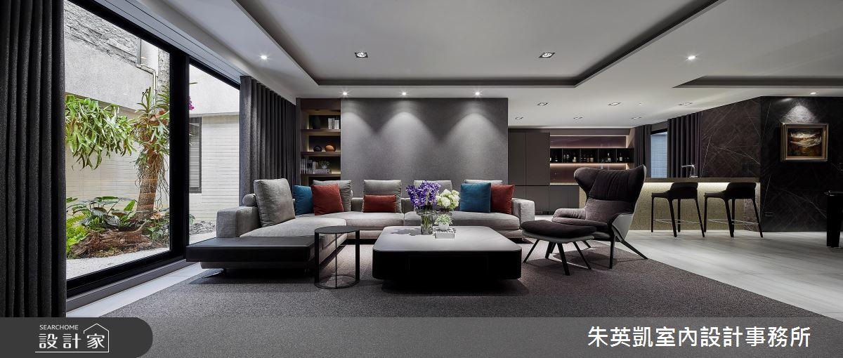 90坪新成屋(5年以下)_現代風客廳案例圖片_朱英凱室內設計事務所_朱英凱_32之3