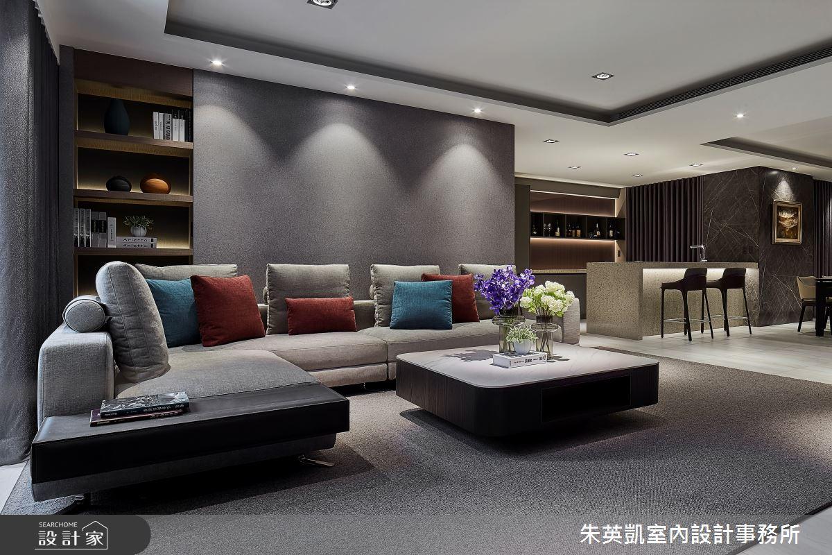 90坪新成屋(5年以下)_現代風客廳案例圖片_朱英凱室內設計事務所_朱英凱_32之2