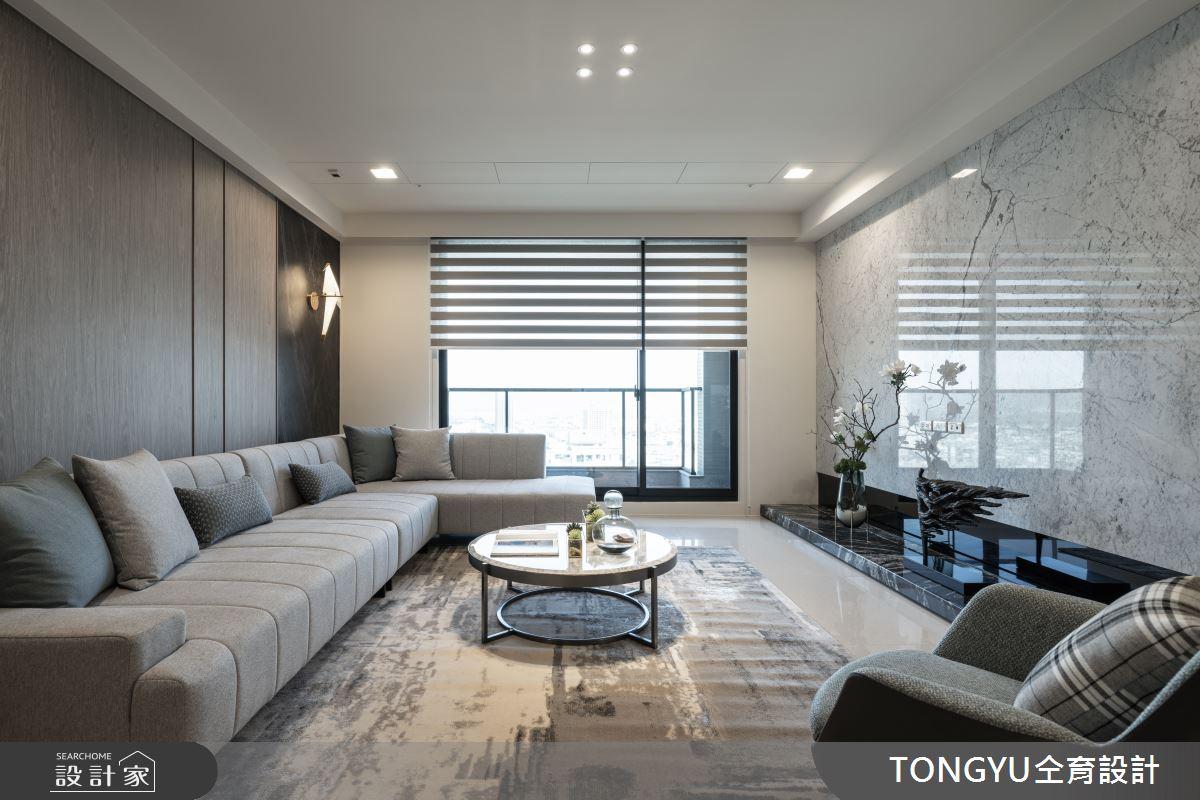 74坪預售屋_現代風客廳案例圖片_仝育室內裝修設計有限公司_仝育_25之2