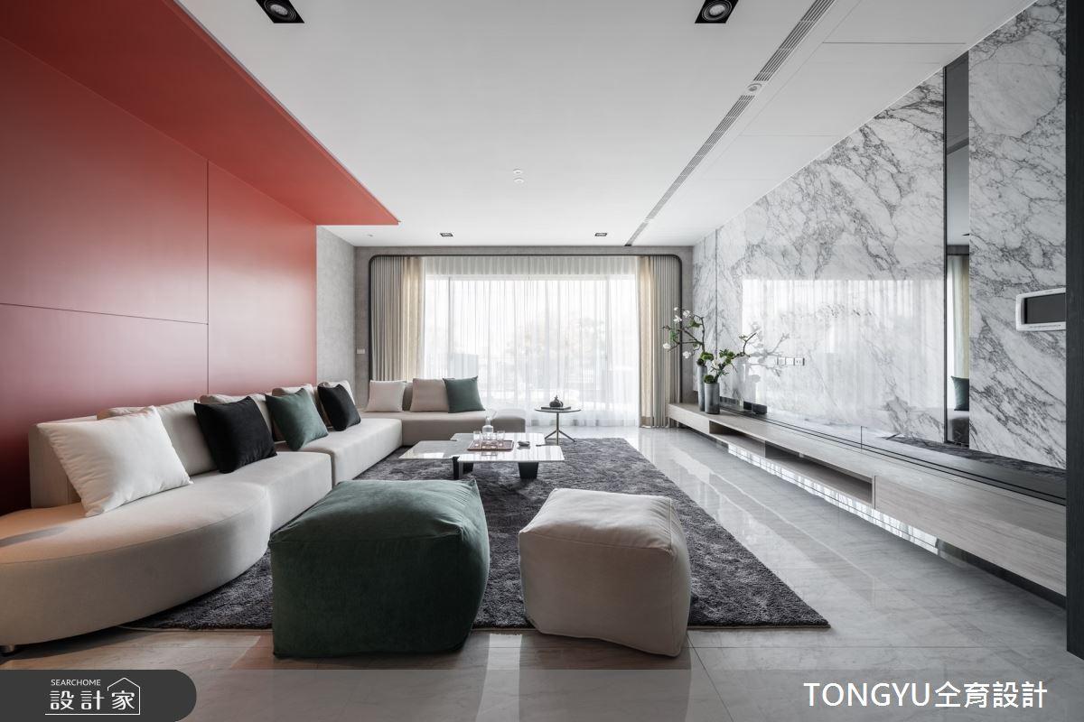 125坪預售屋_現代風客廳案例圖片_仝育室內裝修設計有限公司_仝育_26之3