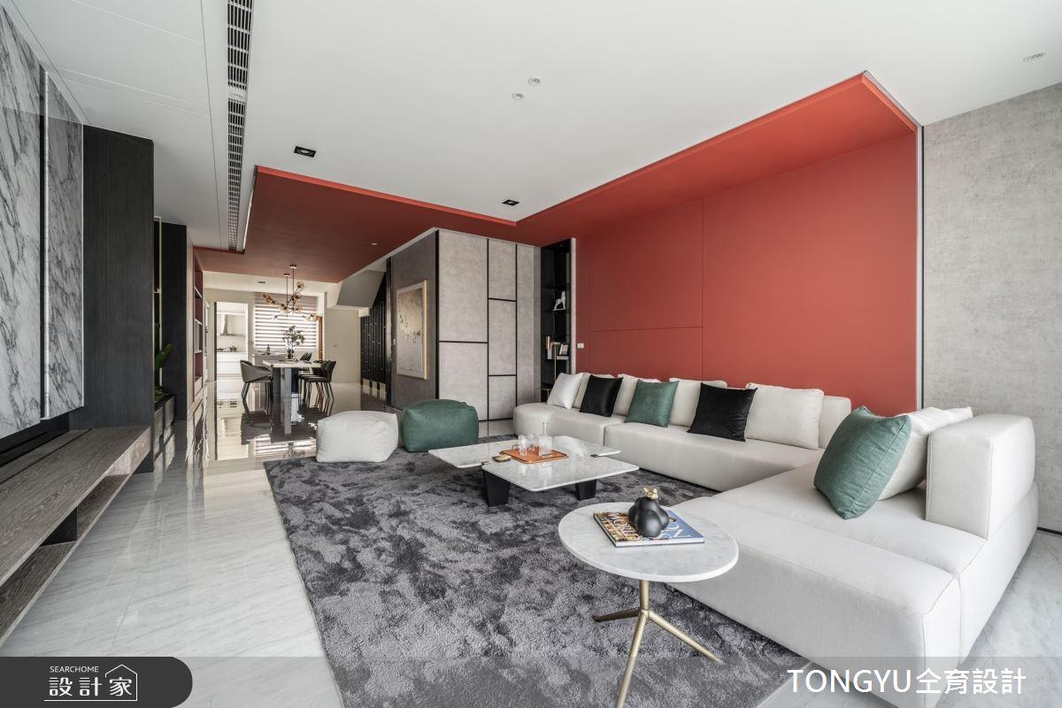 125坪預售屋_現代風客廳案例圖片_仝育室內裝修設計有限公司_仝育_26之4