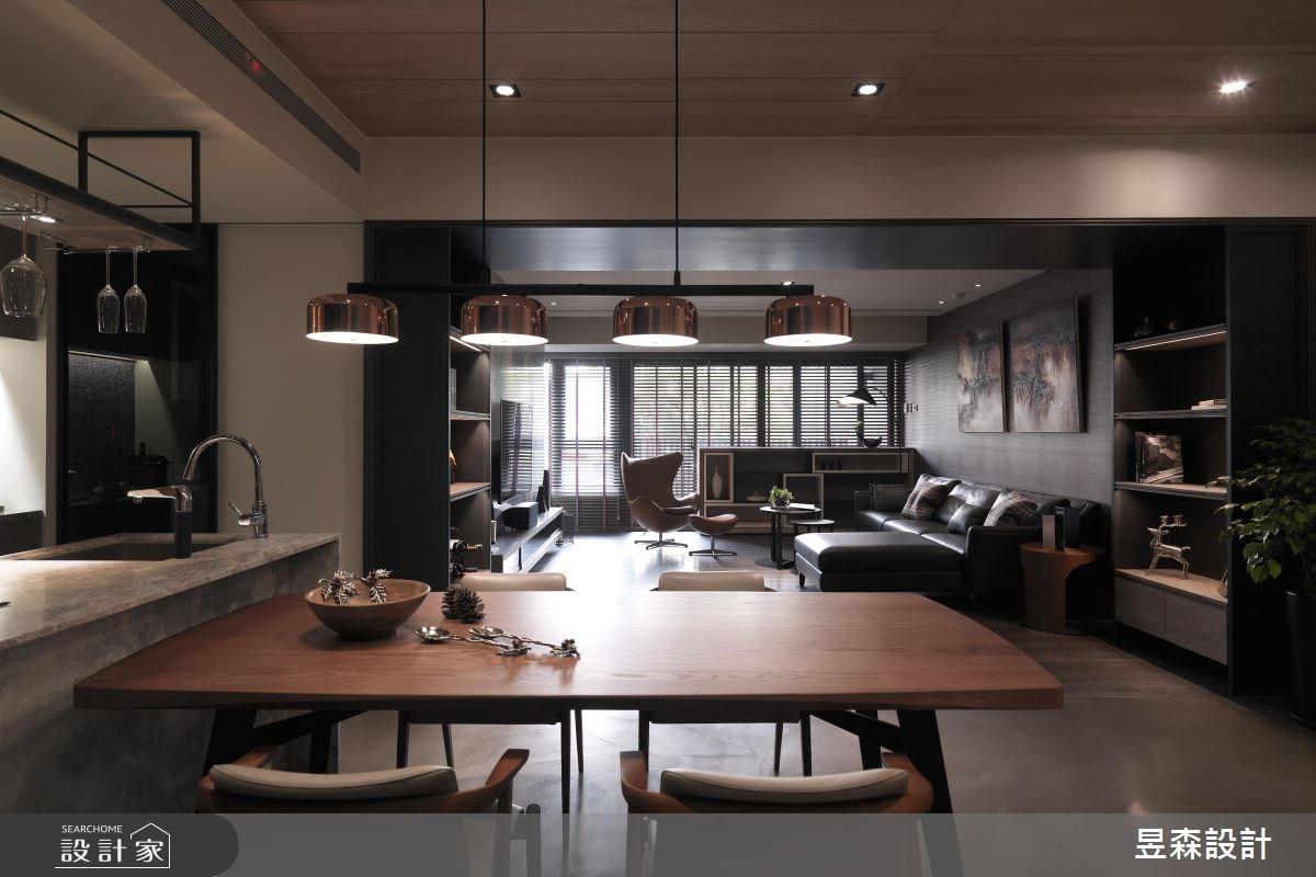 48坪預售屋_現代風客廳餐廳案例圖片_昱森室內裝修有限公司_昱森_07之3