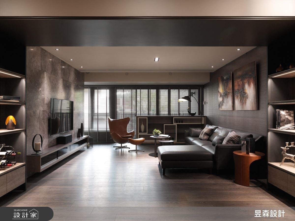 48坪預售屋_現代風客廳案例圖片_昱森室內裝修有限公司_昱森_07之4