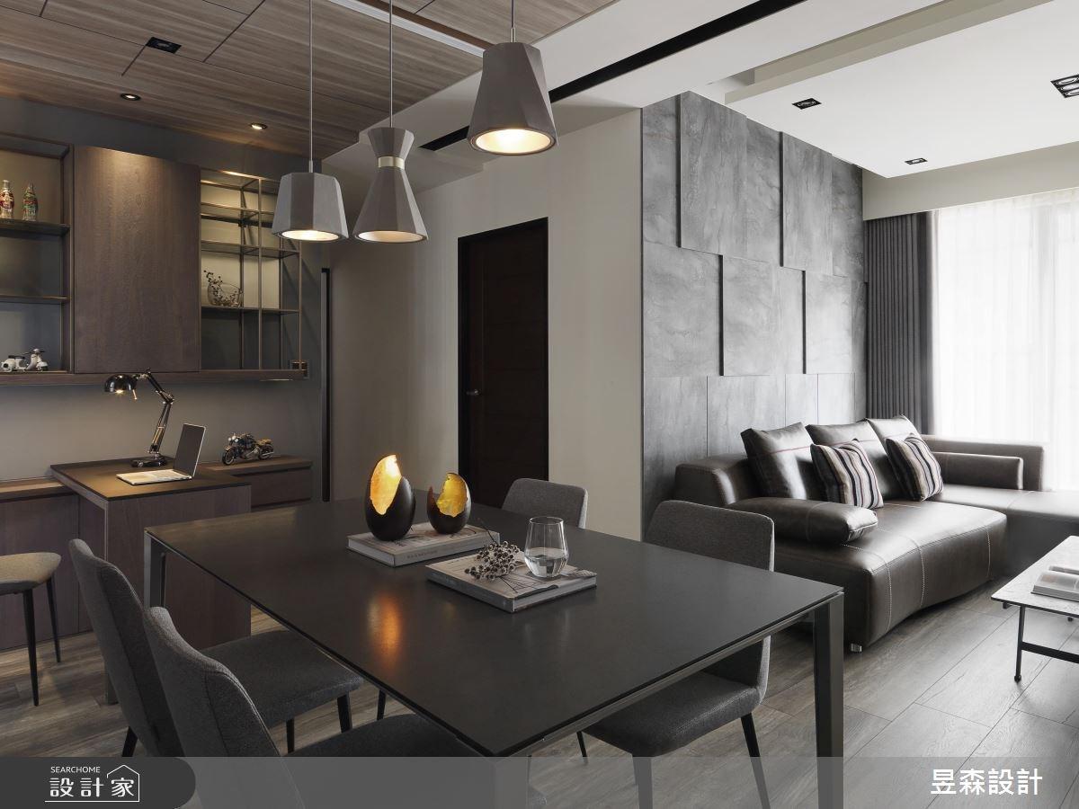 25坪新成屋(5年以下)_工業風客廳餐廳案例圖片_昱森室內裝修有限公司_昱森_08之3
