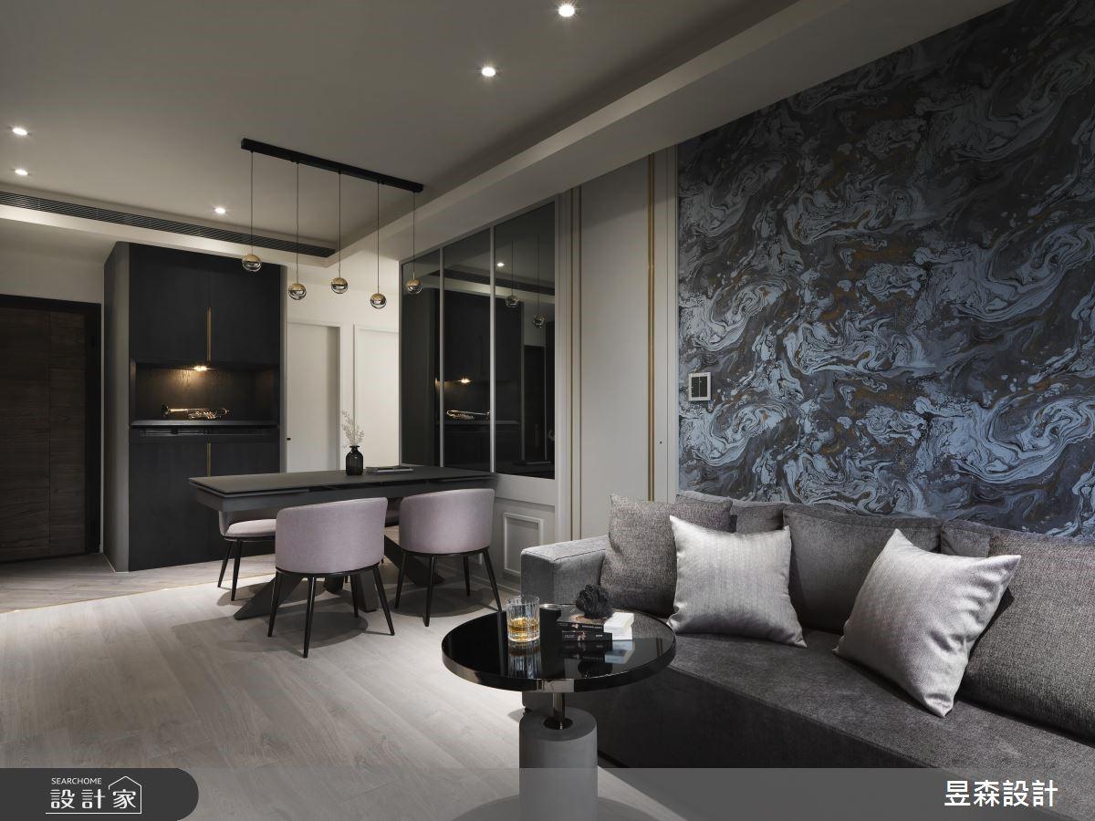 17坪新成屋(5年以下)_現代風客廳案例圖片_昱森室內裝修有限公司_昱森_11之2