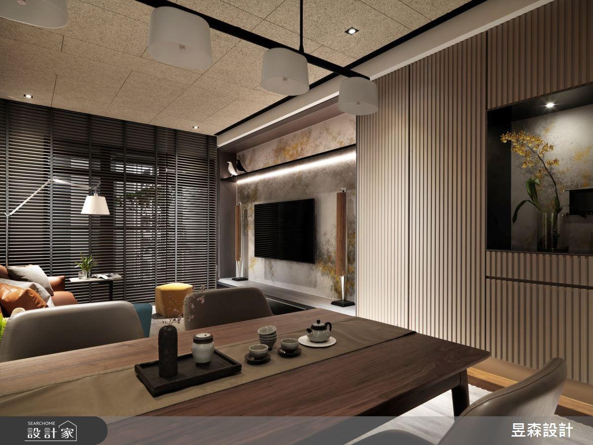 23坪新成屋(5年以下)_混搭風餐廳案例圖片_昱森室內裝修有限公司_昱森_16之9