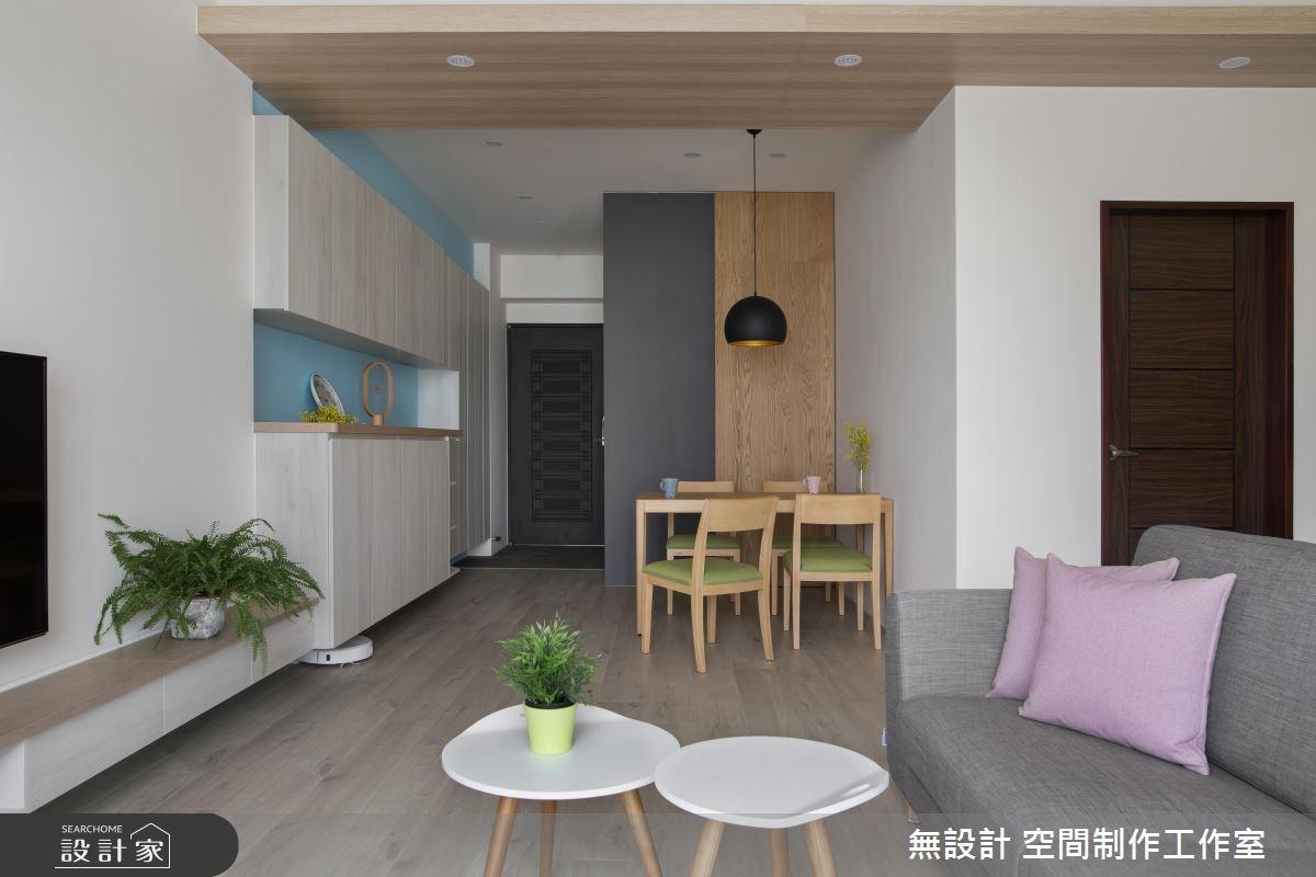 23坪新成屋(5年以下)_北歐風玄關客廳餐廳案例圖片_無設計 空間制作工作室_無設計_04之3