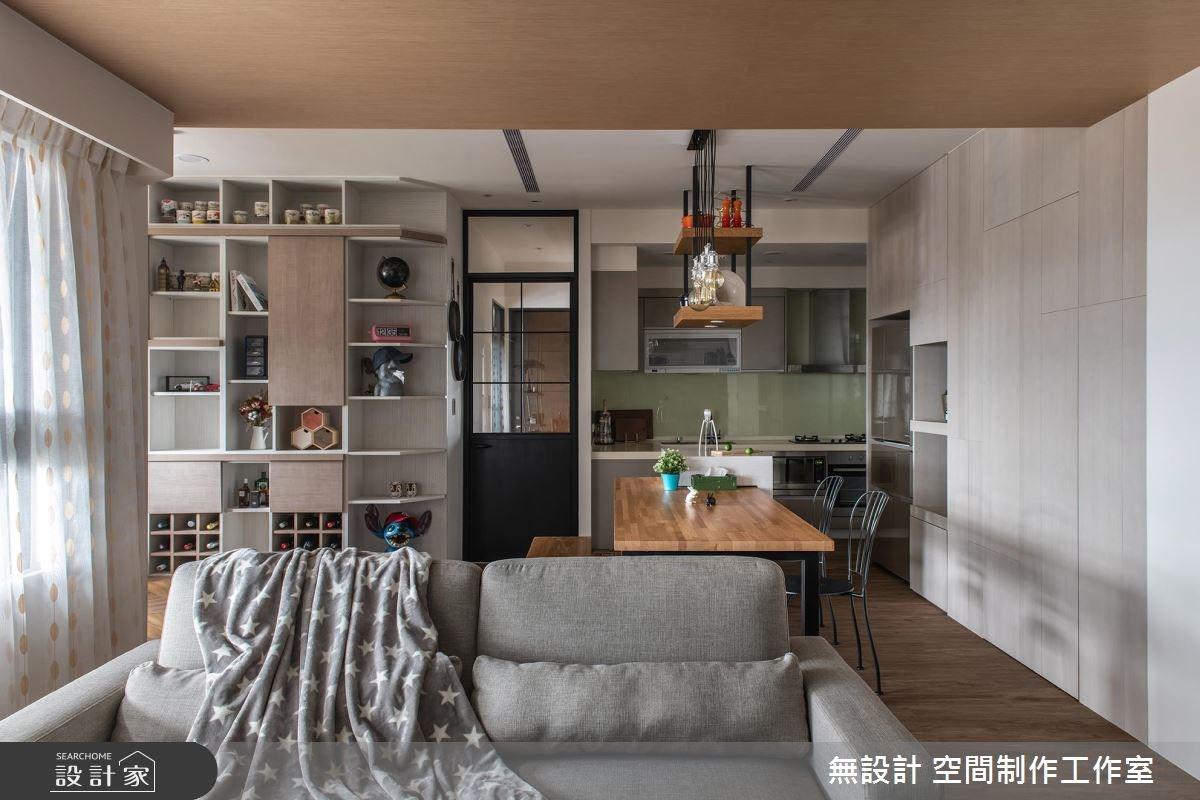 23坪新成屋(5年以下)_混搭風客廳餐廳廚房案例圖片_無設計 空間制作工作室_無設計_05之2