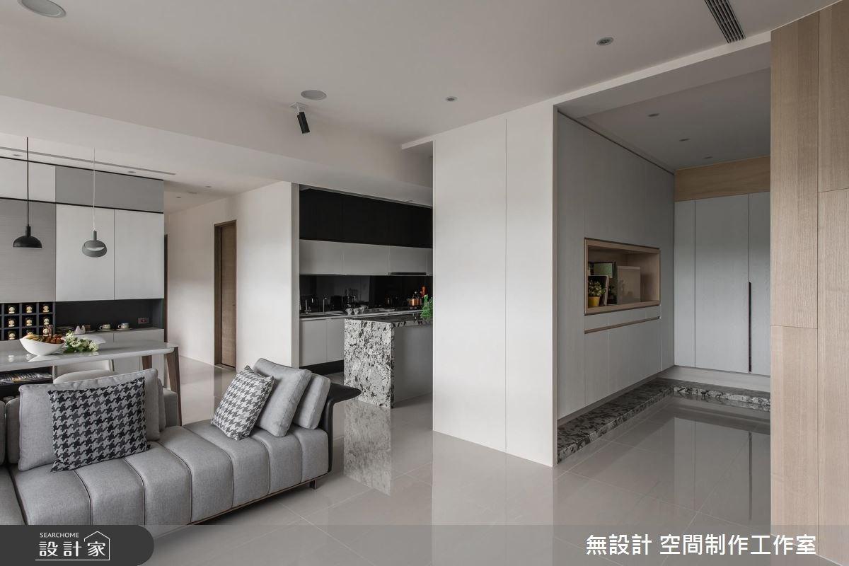 35坪新成屋(5年以下)_現代風玄關客廳餐廳廚房案例圖片_無設計 空間制作工作室_無設計_06之2