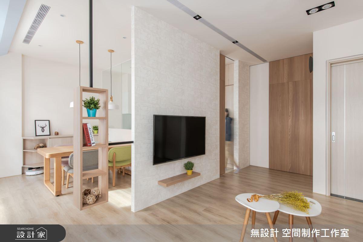 想要零壓力的無設計?22 坪混搭風別墅用木質與玻璃實現