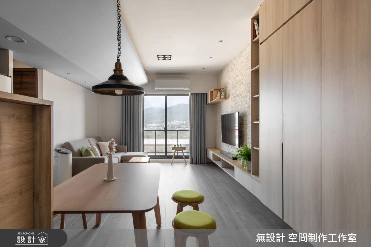 20坪新成屋(5年以下)_混搭風客廳餐廳案例圖片_無設計 空間制作工作室_無設計_11之3