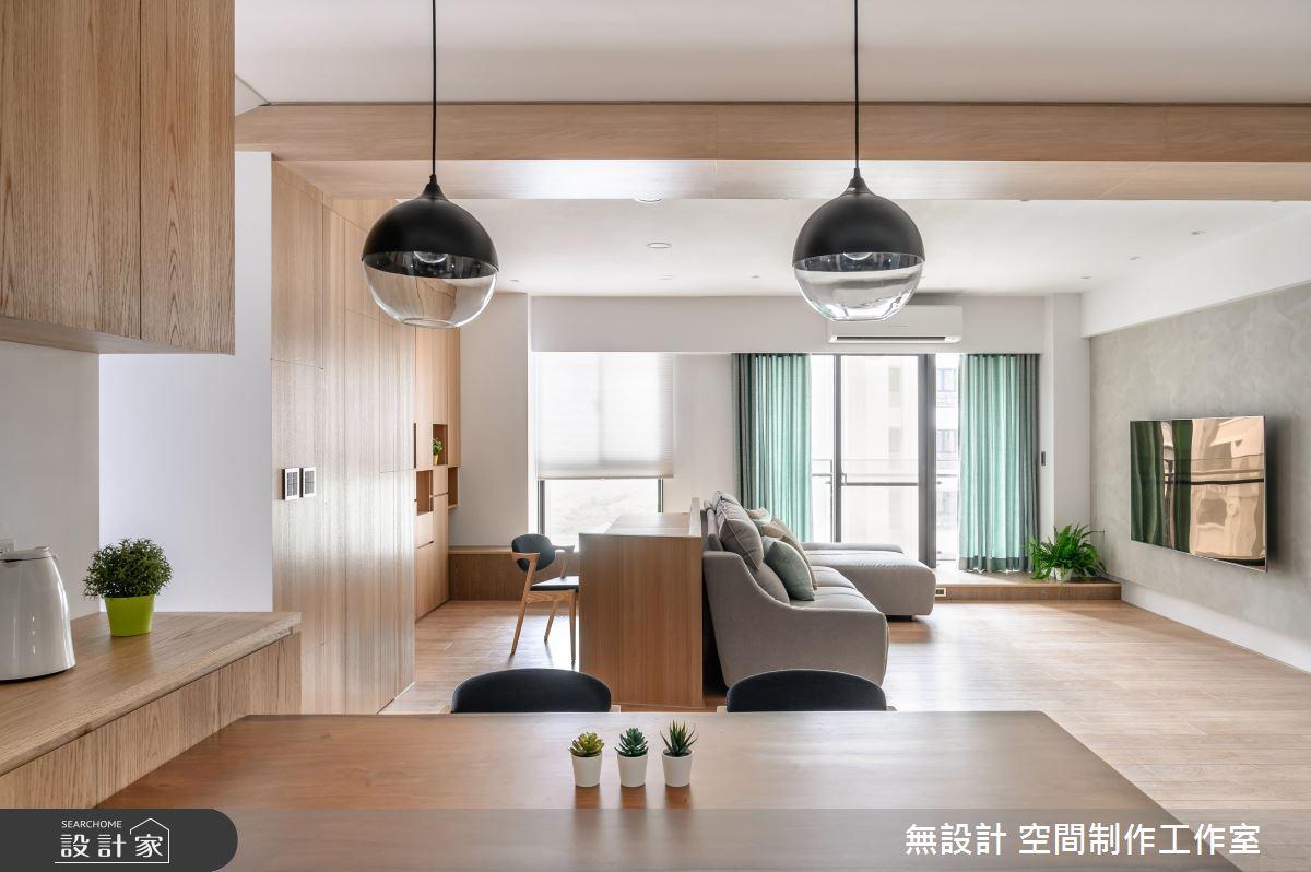 35坪新成屋(5年以下)_混搭風客廳案例圖片_無設計 空間制作工作室_無設計_12之4
