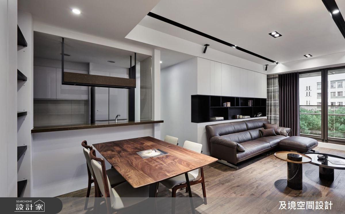 30坪新成屋(5年以下)_簡約風客廳餐廳廚房案例圖片_及境空間設計有限公司_及境_02之2