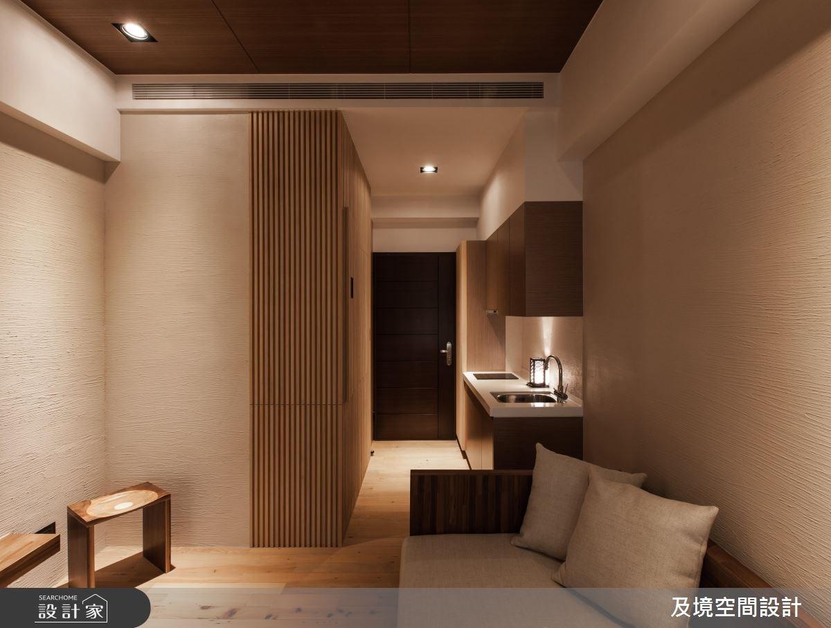 8坪新成屋(5年以下)_飯店風玄關客廳廚房案例圖片_及境空間設計有限公司_及境_05之1