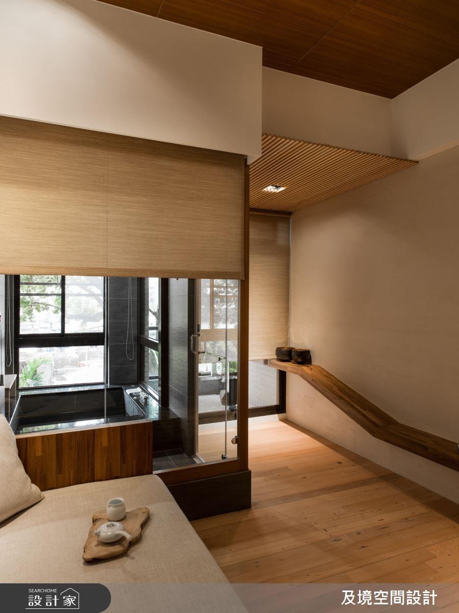 8坪新成屋(5年以下)_人文禪風客廳浴室案例圖片_及境空間設計有限公司_及境_05之4