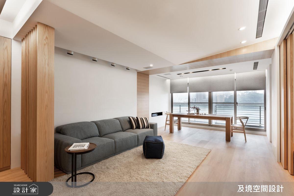 35坪新成屋(5年以下)_飯店風客廳餐廳案例圖片_及境空間設計有限公司_及境_07之1