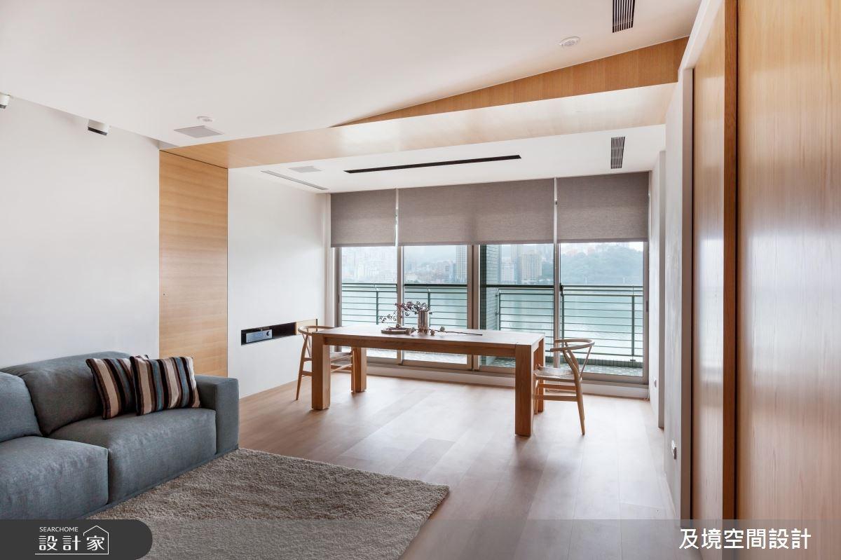 35坪新成屋(5年以下)_飯店風客廳餐廳案例圖片_及境空間設計有限公司_及境_07之3