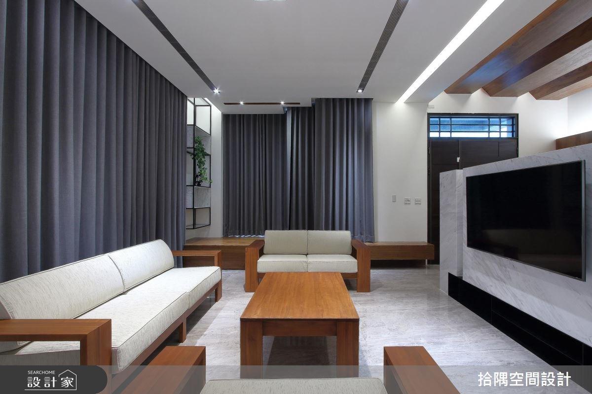 31坪新成屋(5年以下)_簡約風客廳案例圖片_拾隅空間設計_拾隅_11之2