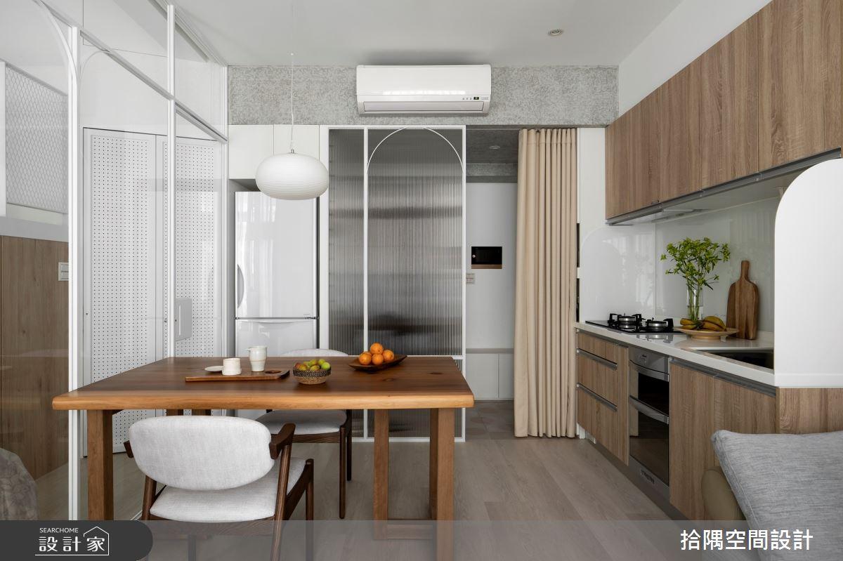 10坪新成屋(5年以下)_北歐風餐廳廚房案例圖片_拾隅空間設計_拾隅_30之8
