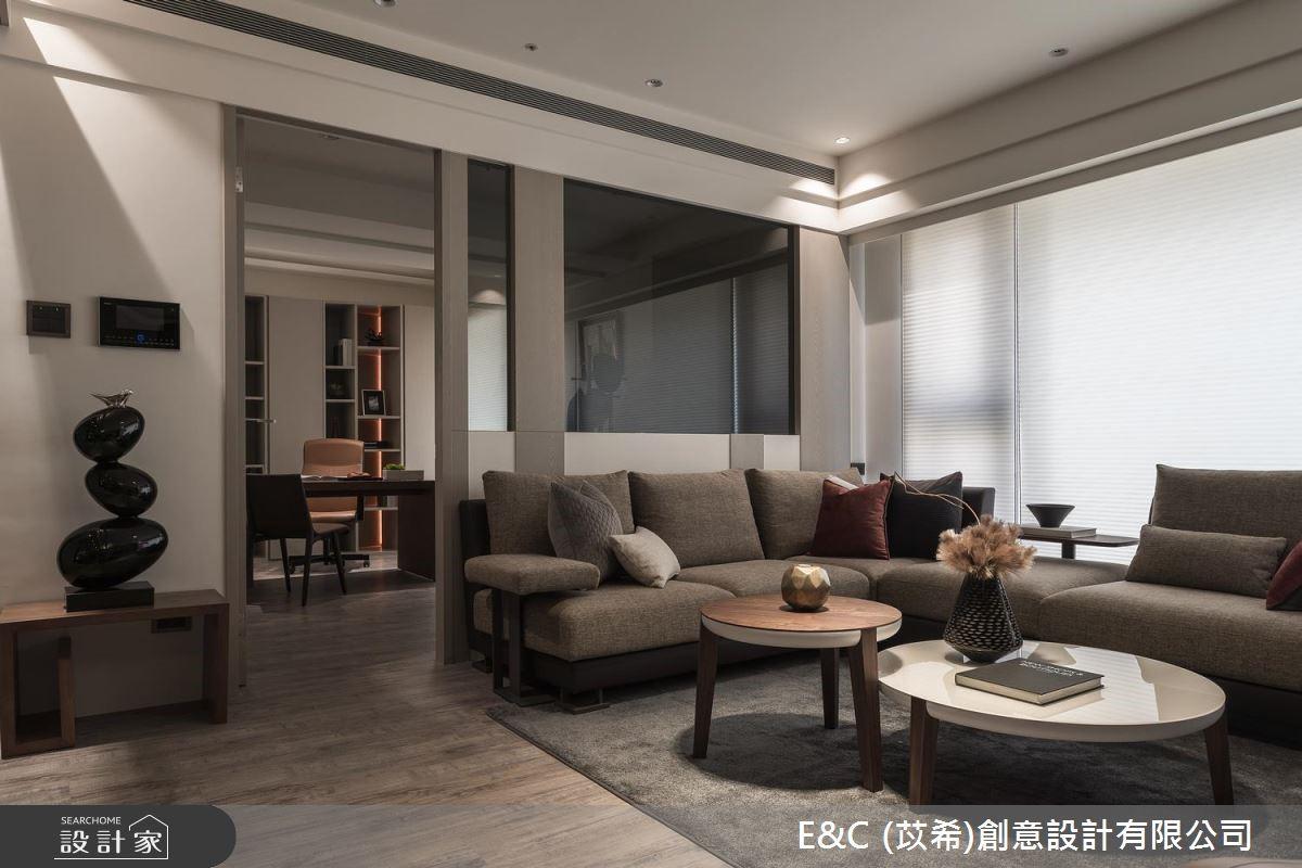 45坪新成屋(5年以下)_飯店風客廳案例圖片_苡希創意設計有限公司_苡希_06之2