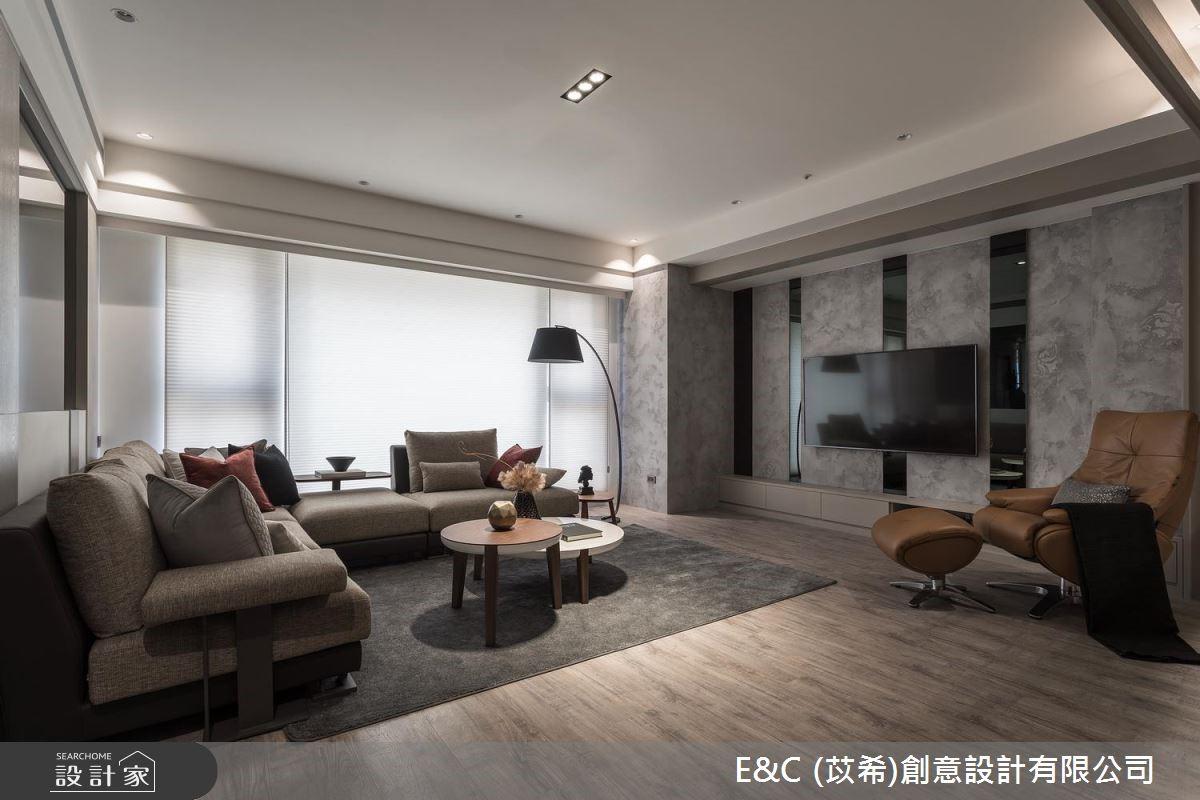 45坪新成屋(5年以下)_飯店風客廳案例圖片_苡希創意設計有限公司_苡希_06之3