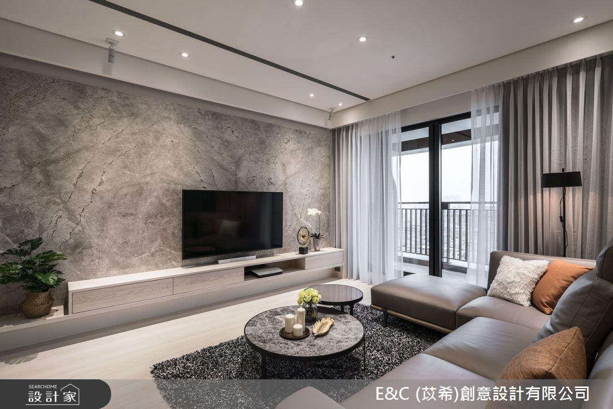 35坪新成屋(5年以下)_飯店風客廳案例圖片_苡希創意設計有限公司_苡希_14之11