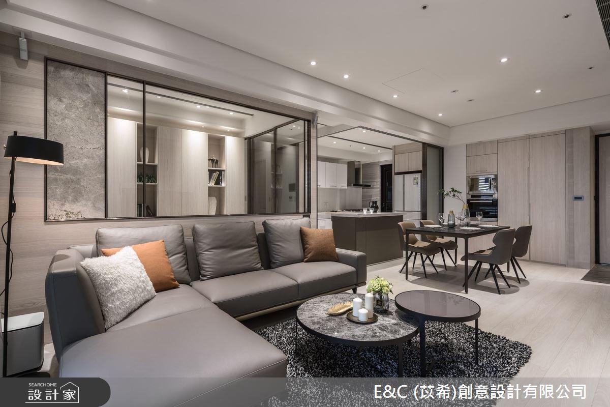 35坪新成屋(5年以下)_飯店風客廳案例圖片_苡希創意設計有限公司_苡希_14之13