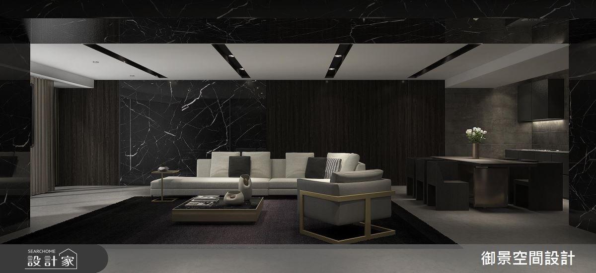 50坪新成屋(5年以下)_現代風客廳餐廳廚房案例圖片_Palladio 御景設計_御景_03之2