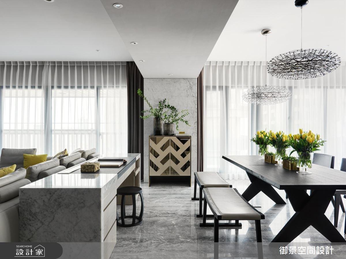 75坪新成屋(5年以下)_奢華風客廳餐廳案例圖片_Palladio 御景設計_御景_07之2