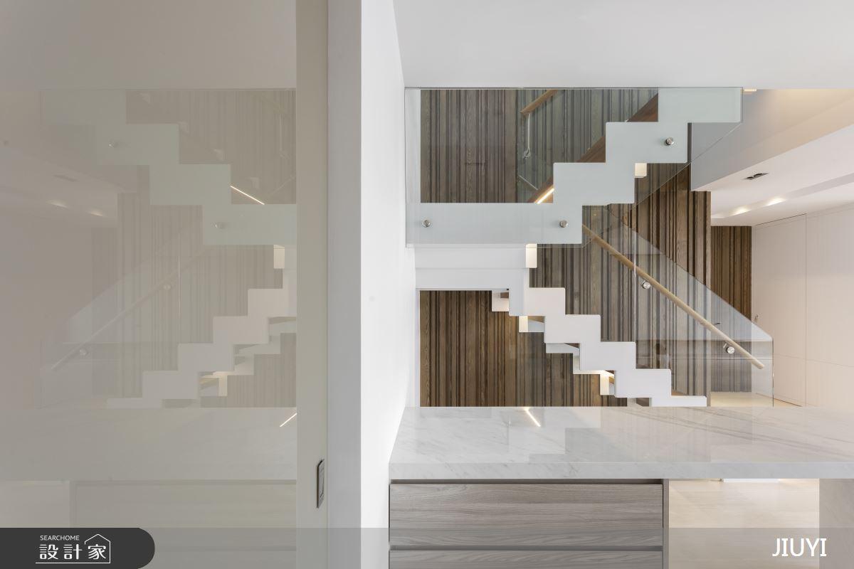 150坪新成屋(5年以下)_現代風餐廳樓梯案例圖片_俱意設計_俱意_34之3