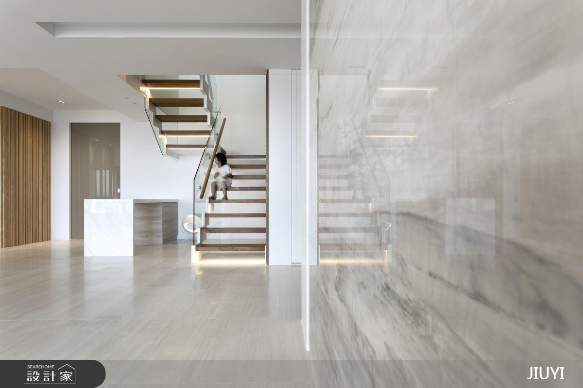 150坪新成屋(5年以下)_現代風餐廳樓梯案例圖片_俱意設計_俱意_34之4