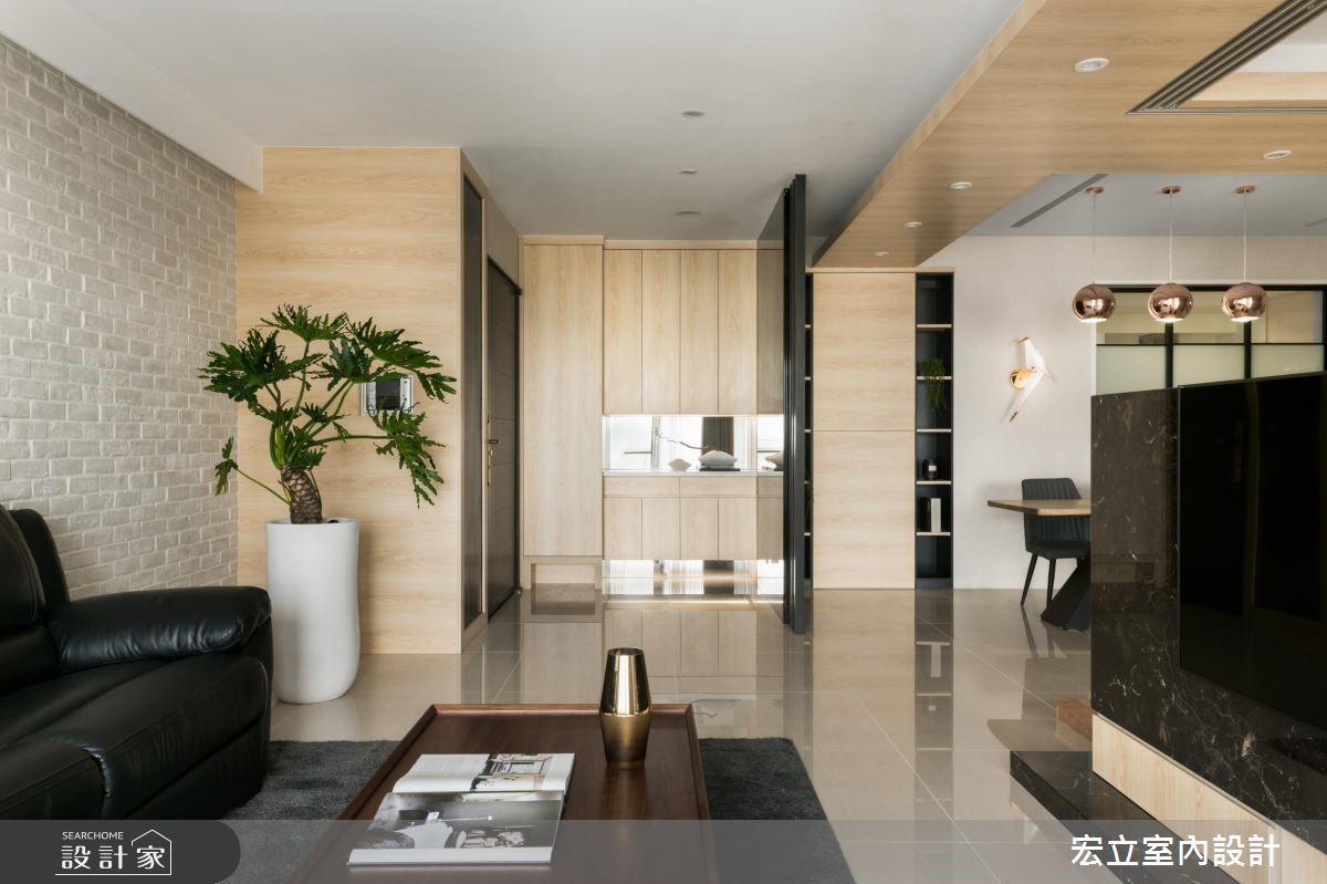 50坪新成屋(5年以下)_混搭風客廳案例圖片_宏立室內設計_宏立_02之4