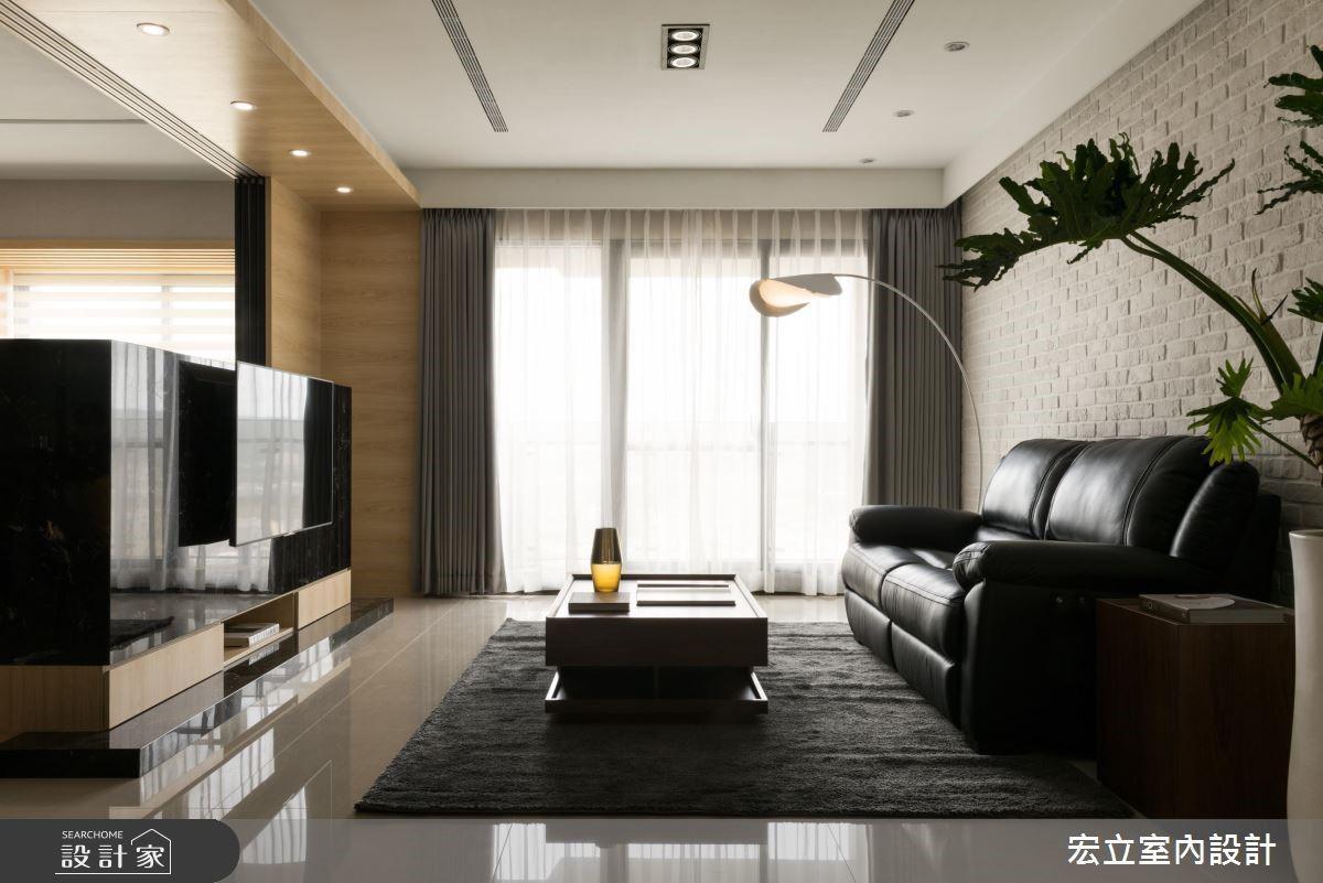50坪新成屋(5年以下)_混搭風客廳案例圖片_宏立室內設計_宏立_02之2