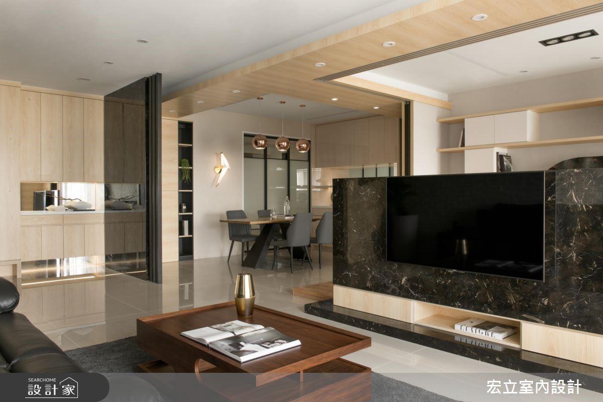50坪新成屋(5年以下)_混搭風客廳案例圖片_宏立室內設計_宏立_02之3