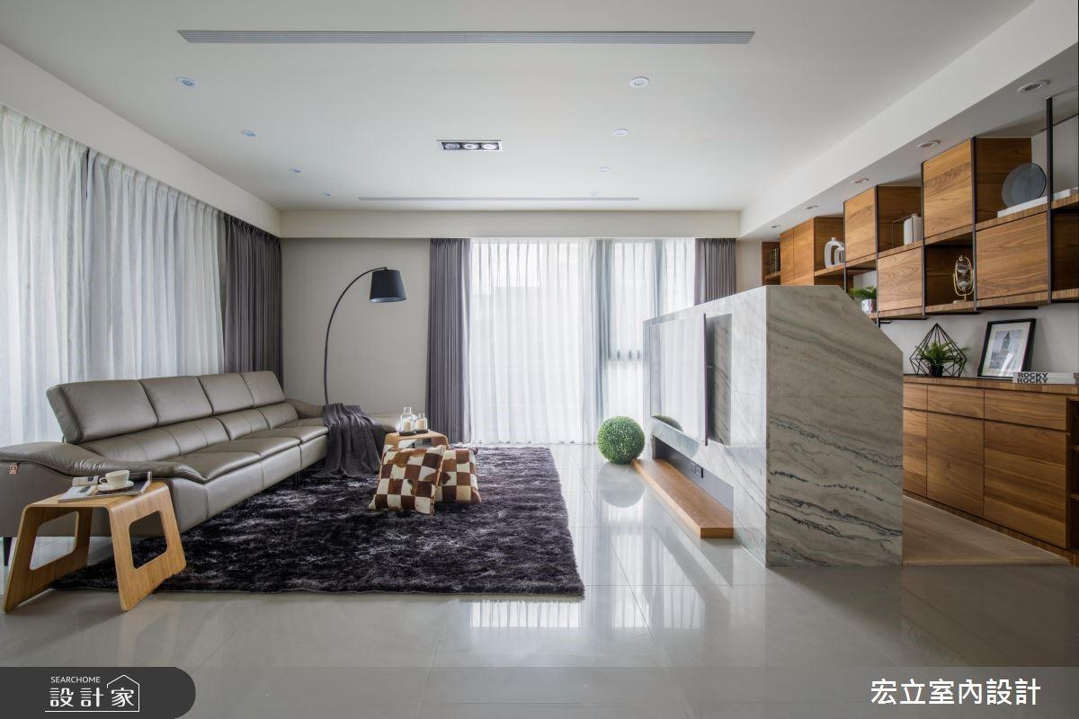 45坪新成屋(5年以下)_混搭風客廳案例圖片_宏立室內設計_宏立_03之2