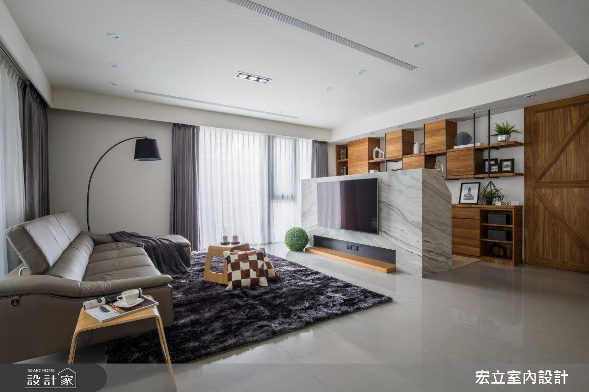 45坪新成屋(5年以下)_混搭風客廳案例圖片_宏立室內設計_宏立_03之3