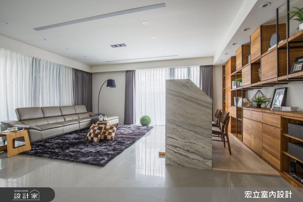 45坪新成屋(5年以下)_混搭風客廳案例圖片_宏立室內設計_宏立_03之1
